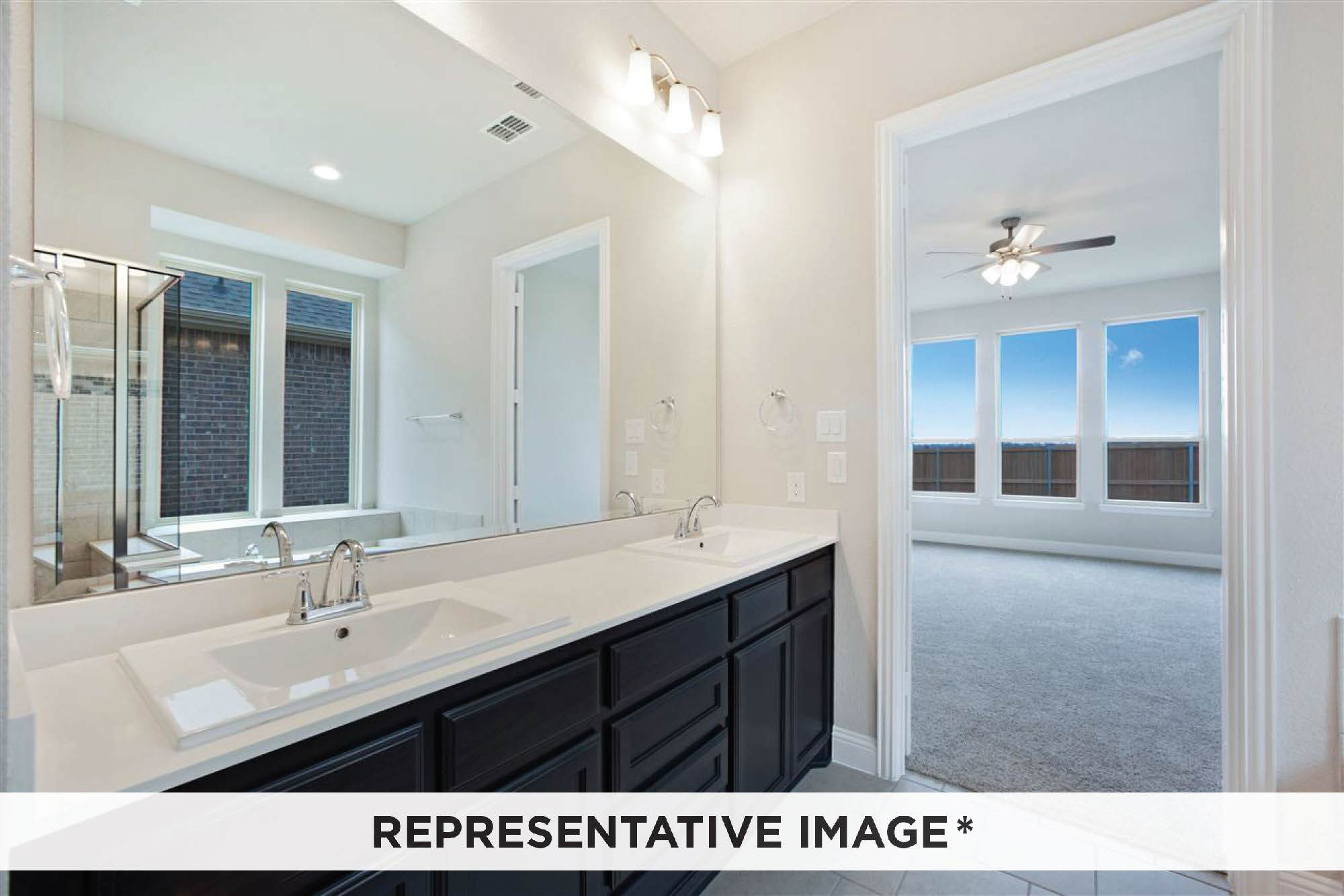 Bathroom featured in the Adagio By Rendition Homes in Fort Worth, TX