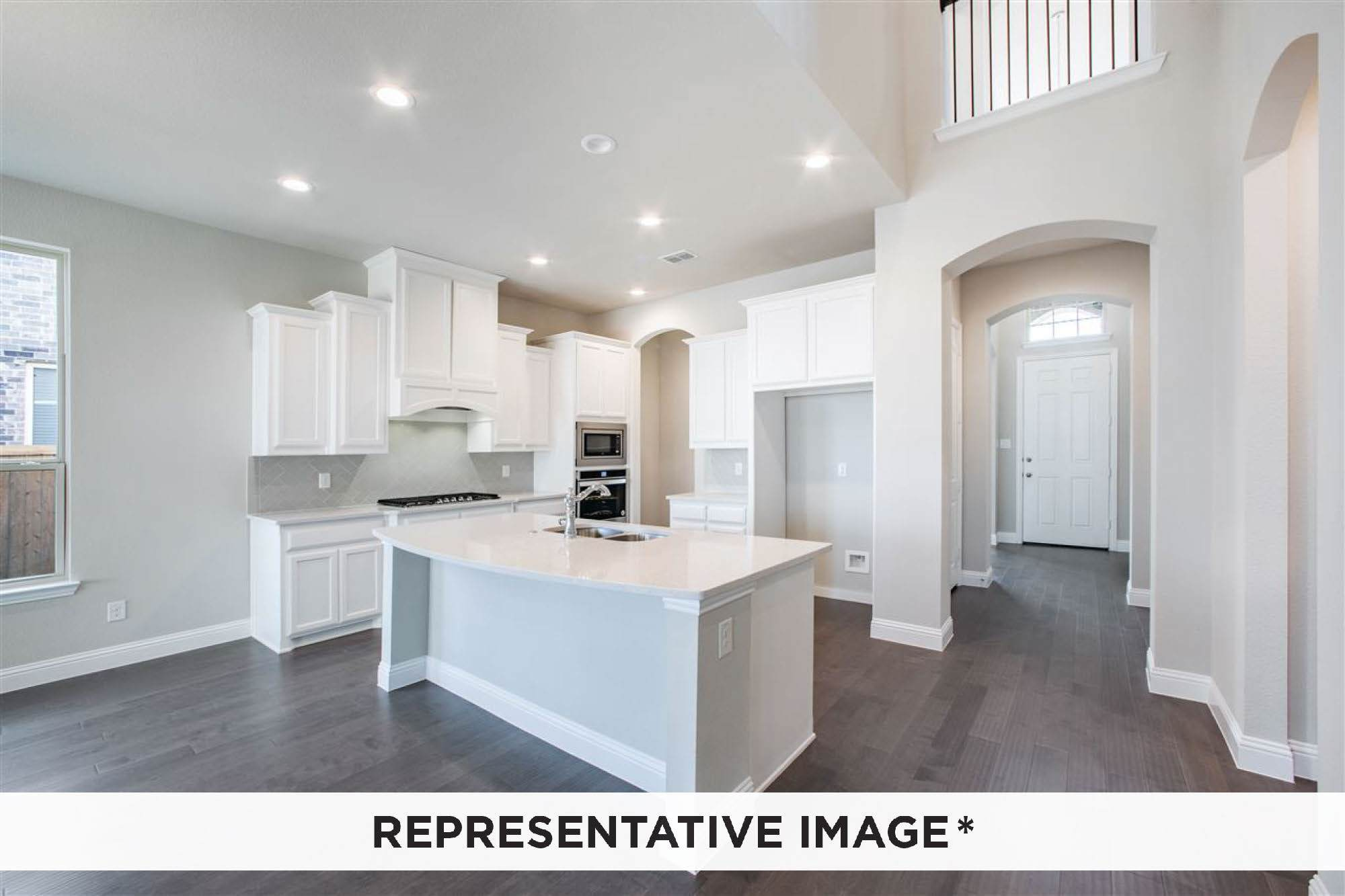 Kitchen featured in the Aria By Rendition Homes in Fort Worth, TX