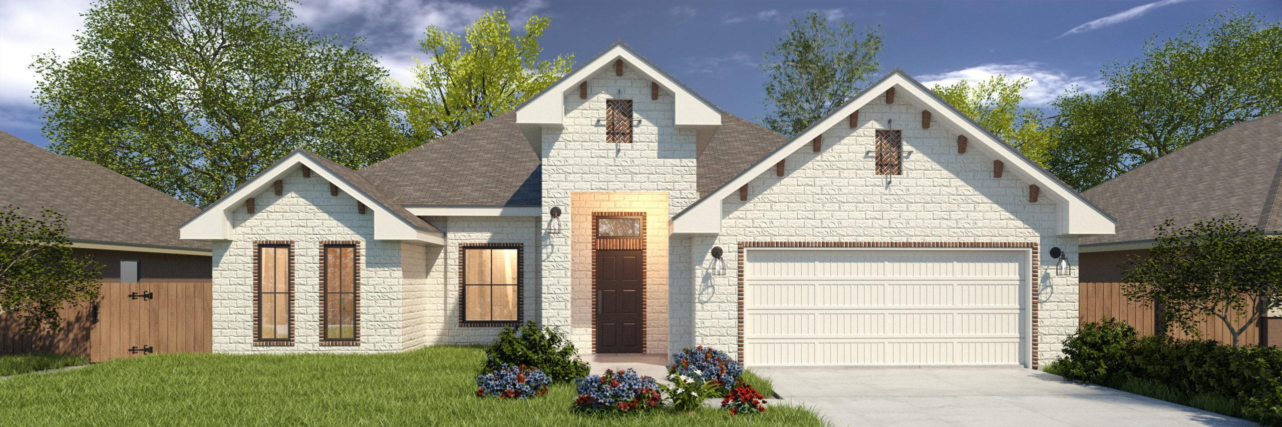 Exterior featured in the Williams II By WestWind Homes in Rio Grande Valley, TX