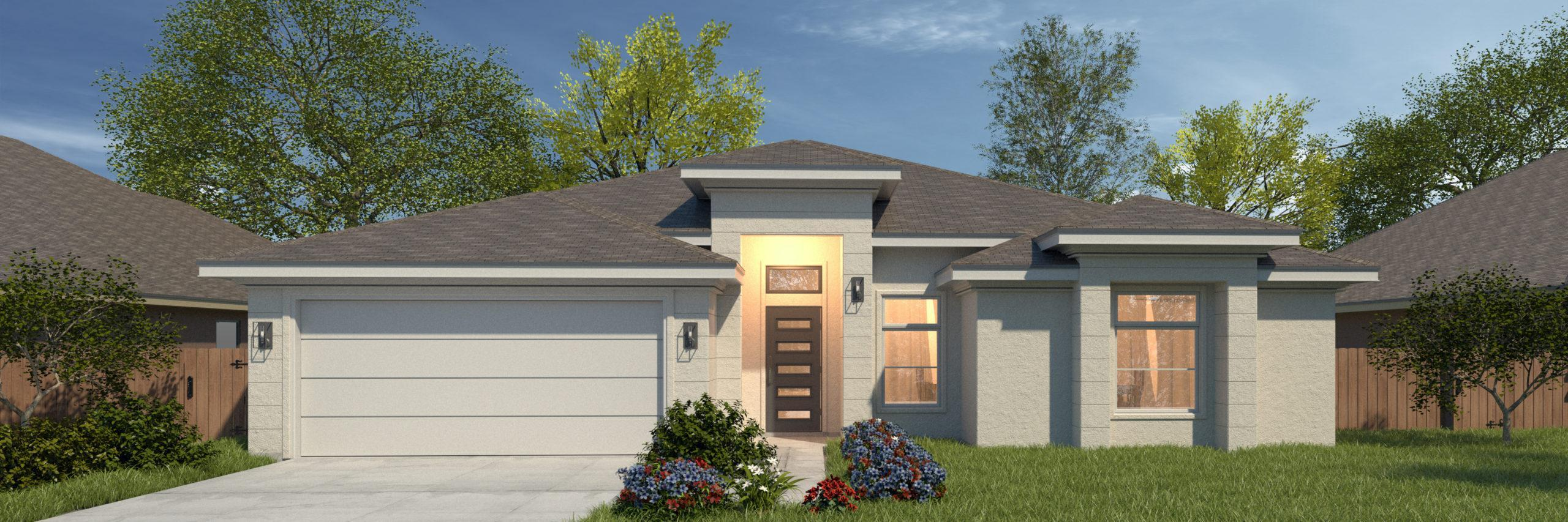 Exterior featured in the Barceledo II By WestWind Homes in Rio Grande Valley, TX