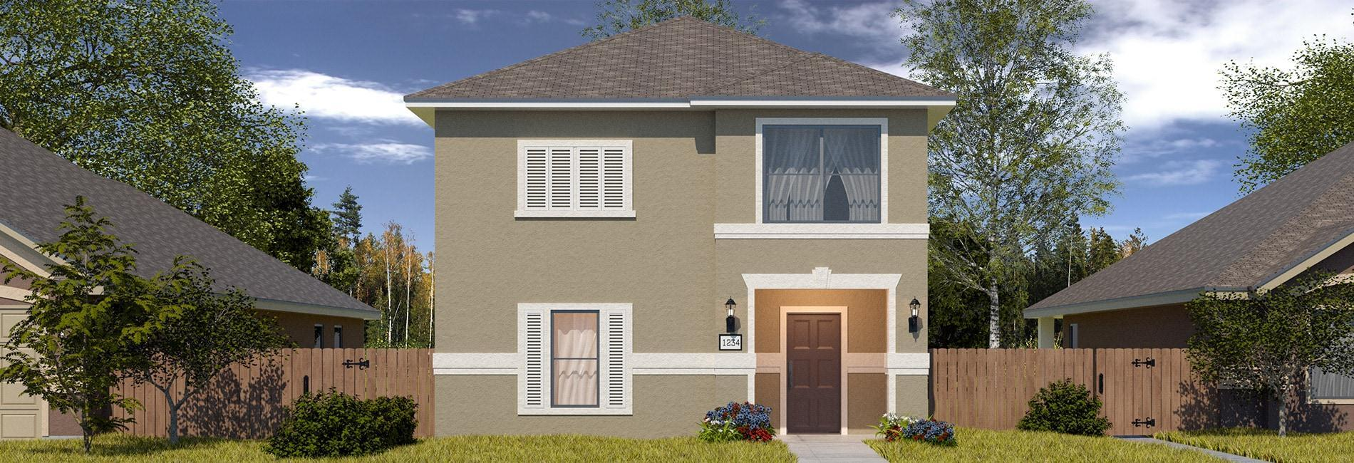 Exterior featured in the Santa Elizabeth By WestWind Homes in Laredo, TX