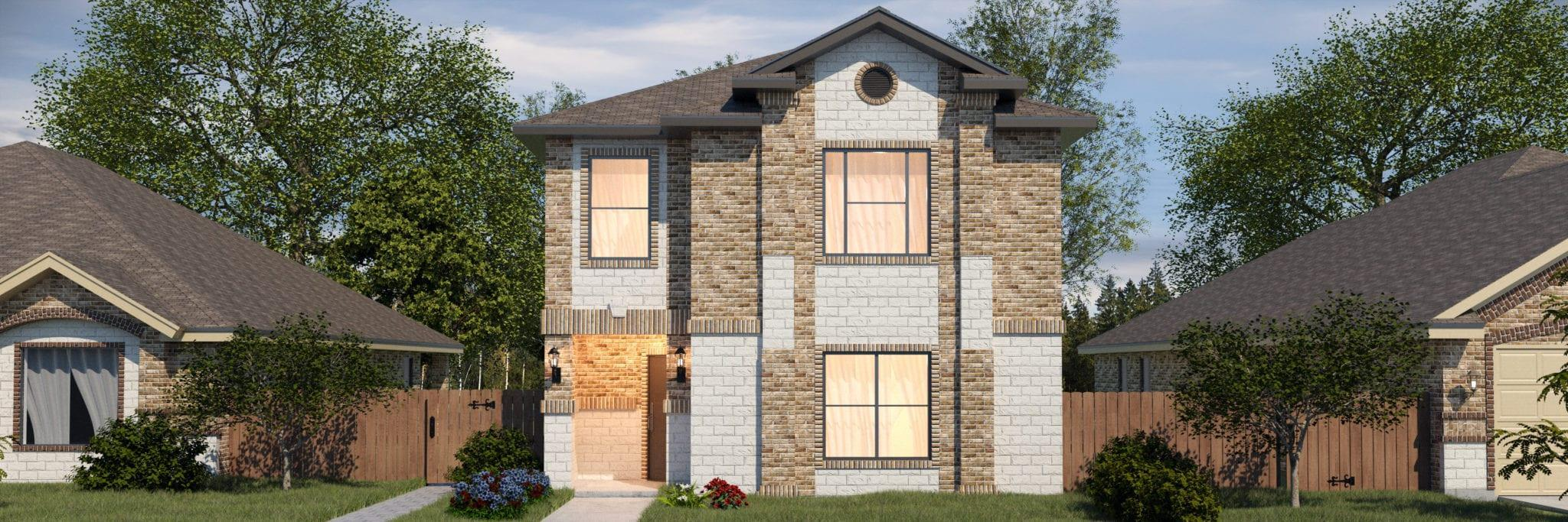 Exterior featured in the San Agustin By WestWind Homes in Laredo, TX