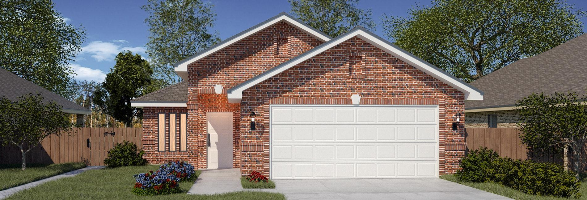 Exterior featured in the San Isidro By WestWind Homes in Laredo, TX