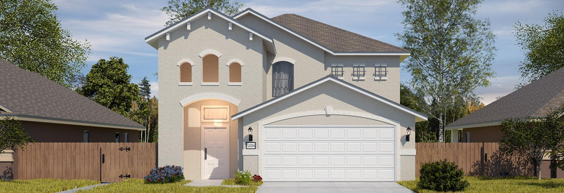 Exterior featured in the San Ignacio By WestWind Homes in Laredo, TX