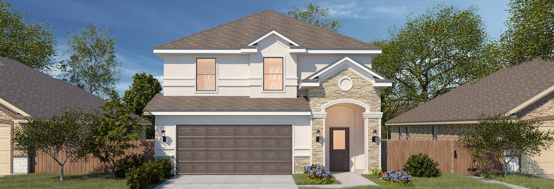 Exterior featured in the San Felipe By WestWind Homes in Laredo, TX