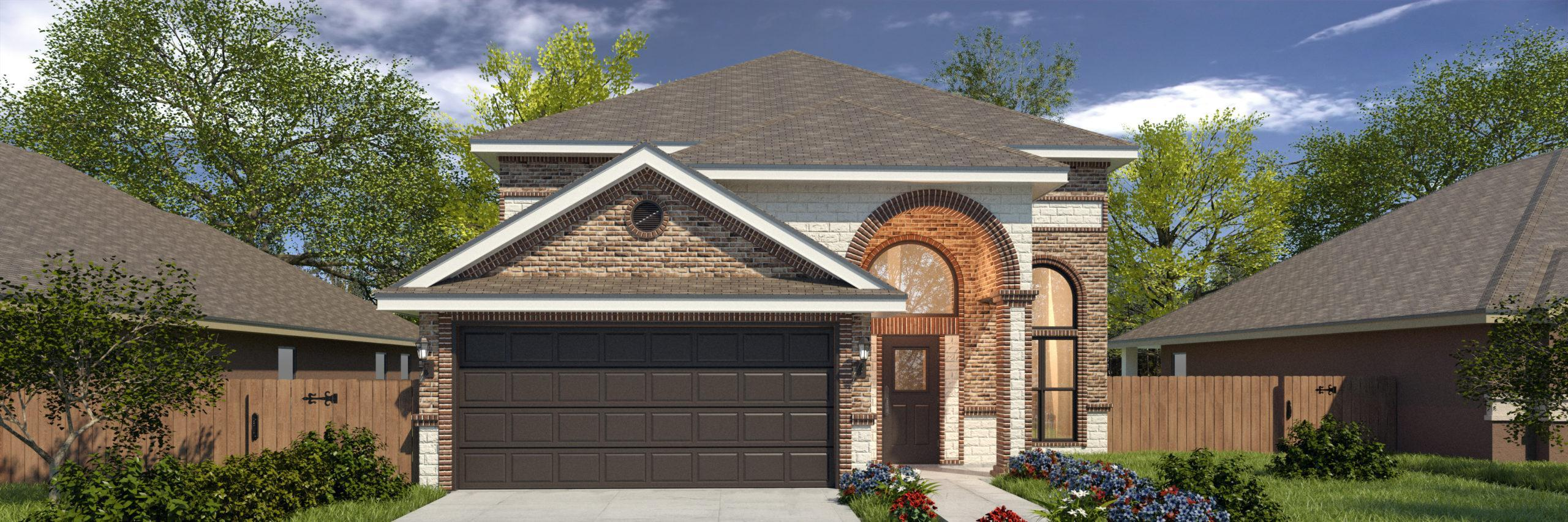Exterior featured in the San Cristobal II Hmstd 2 By WestWind Homes in Rio Grande Valley, TX
