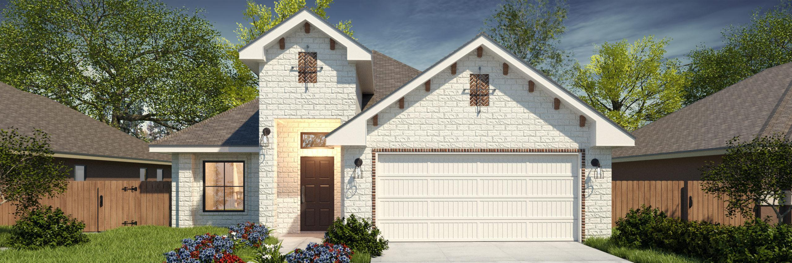 Exterior featured in the Santa Maria II By WestWind Homes in Rio Grande Valley, TX