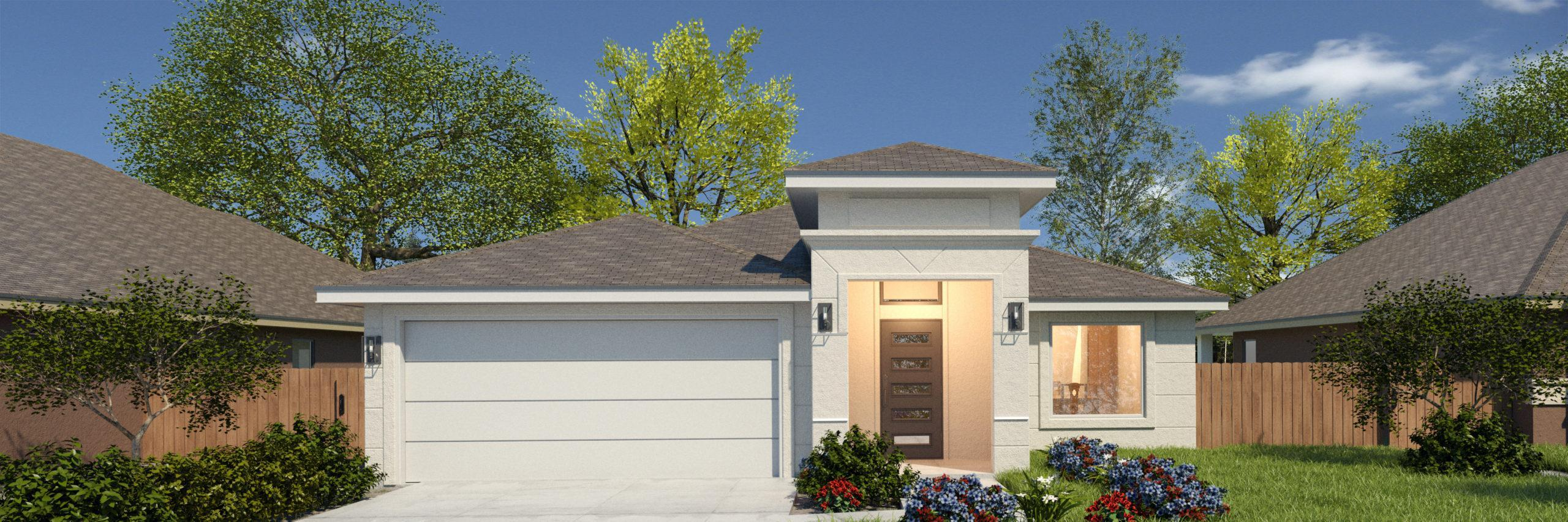 Exterior featured in the Santa Cecilia II By WestWind Homes in Rio Grande Valley, TX