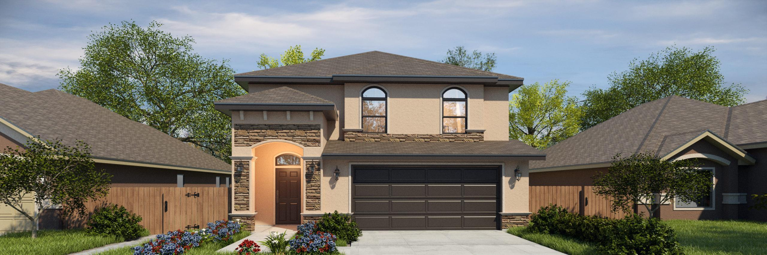 Exterior featured in the San Felipe II By WestWind Homes in Rio Grande Valley, TX