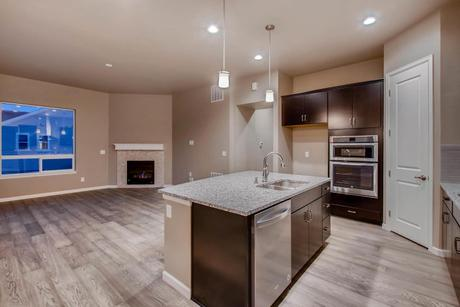 Kitchen-in-The Jamestown II-at-Promontory at Todd Creek-in-Brighton