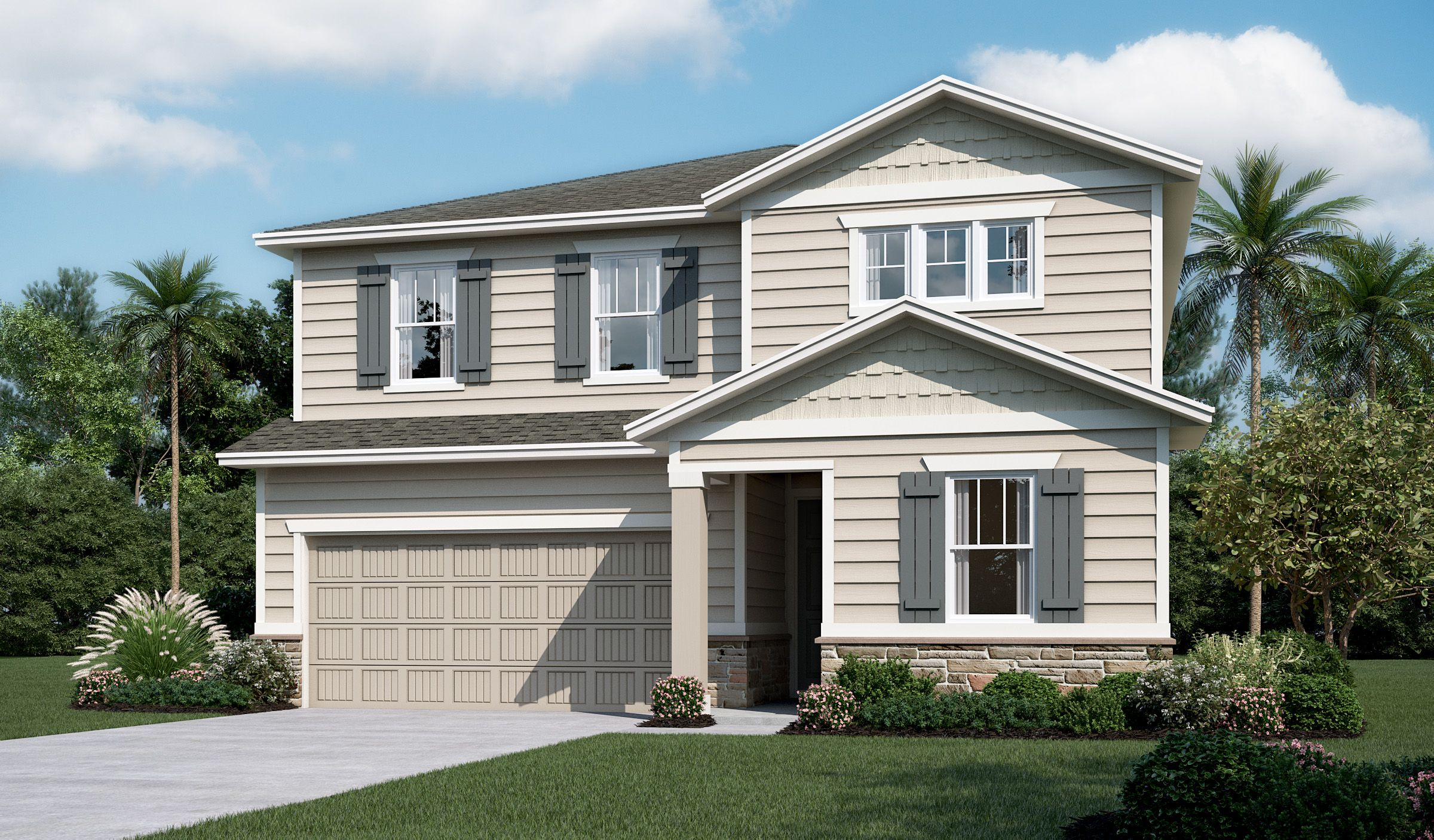 Exterior featured in the Pearl By Richmond American Homes in Jacksonville-St. Augustine, FL