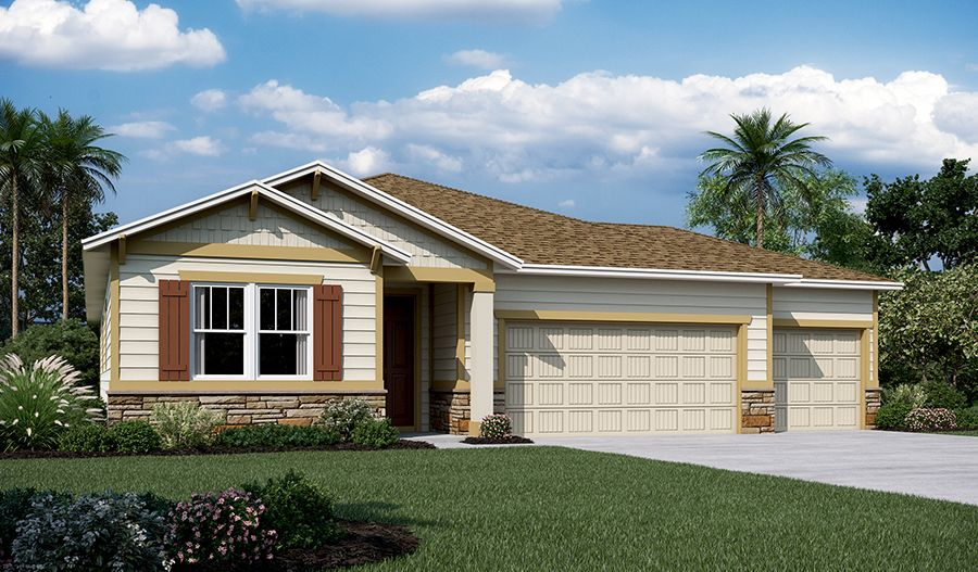 Exterior featured in the Raleigh By Richmond American Homes in Jacksonville-St. Augustine, FL