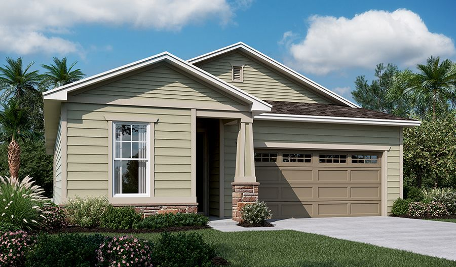 Exterior featured in the Sunstone By Richmond American Homes in Jacksonville-St. Augustine, FL