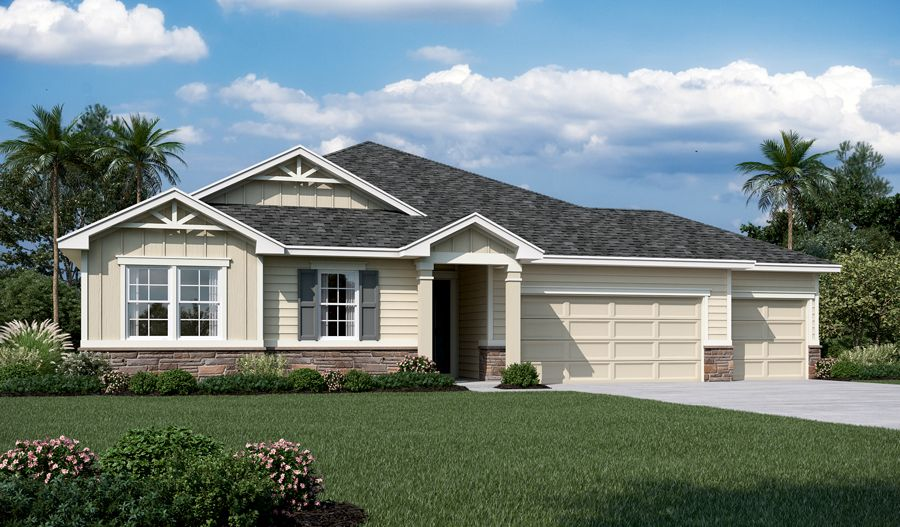 Exterior featured in the Daniel By Richmond American Homes in Jacksonville-St. Augustine, FL