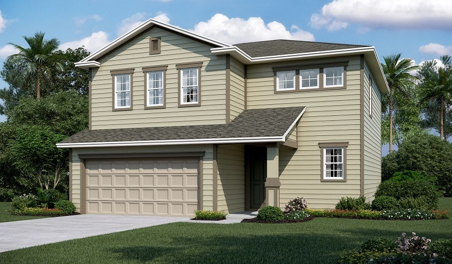 Exterior featured in the Coral By Richmond American Homes in Jacksonville-St. Augustine, FL