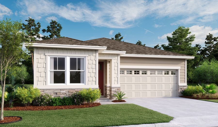 Exterior featured in the Jonquil By Richmond American Homes in Jacksonville-St. Augustine, FL