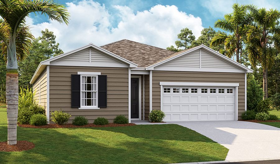 Exterior featured in the Agate By Richmond American Homes in Jacksonville-St. Augustine, FL