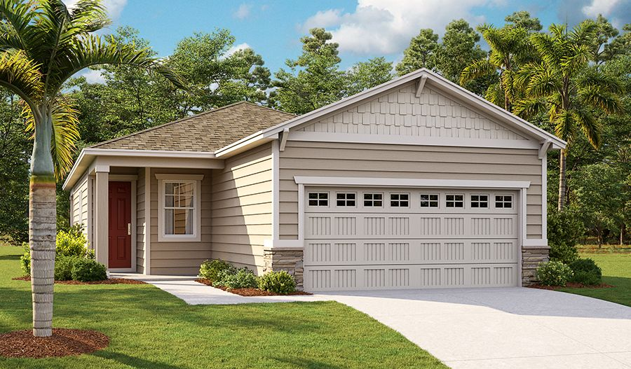 Exterior featured in the Balsam By Richmond American Homes in Jacksonville-St. Augustine, FL