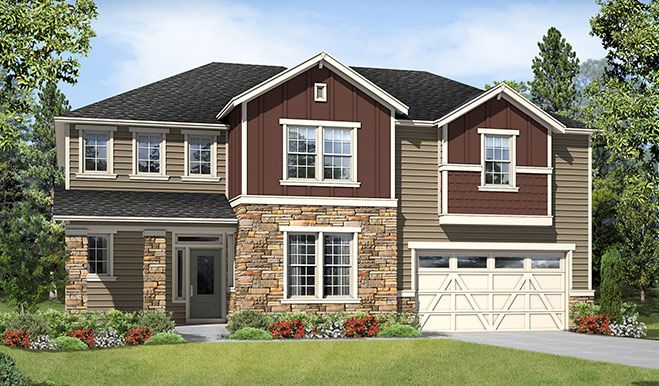 Exterior featured in the Oakley By Richmond American Homes in Tacoma, WA