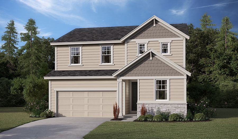 Exterior featured in the Pearl By Richmond American Homes in Tacoma, WA
