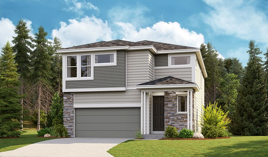 Exterior featured in the Liesel By Richmond American Homes in Seattle-Bellevue, WA