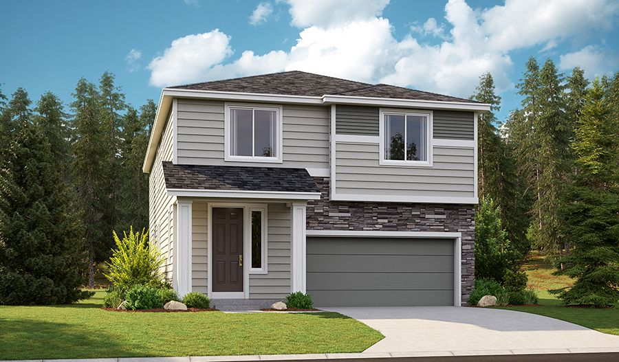 Exterior featured in the Jefferson By Richmond American Homes in Tacoma, WA