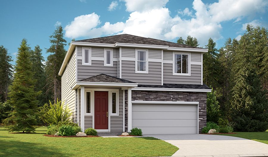 Exterior featured in the Lowrey By Richmond American Homes in Tacoma, WA