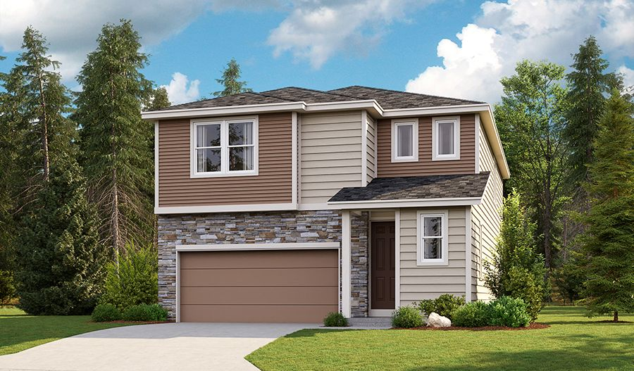 Exterior featured in the Lowell By Richmond American Homes in Tacoma, WA