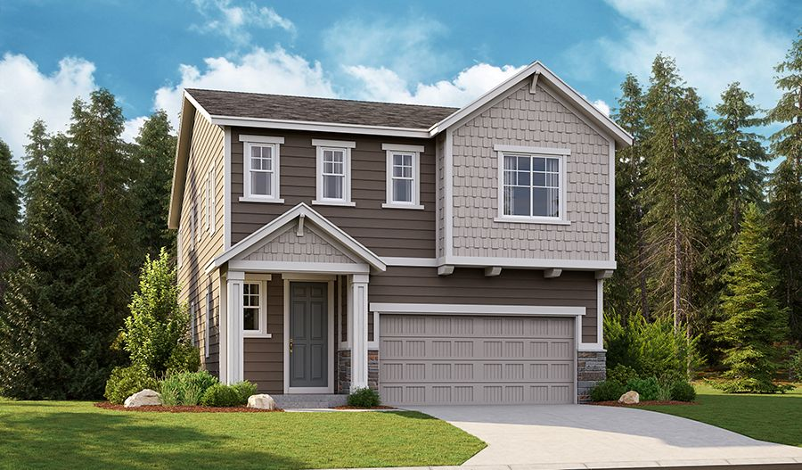 Exterior featured in the Laurel By Richmond American Homes in Tacoma, WA
