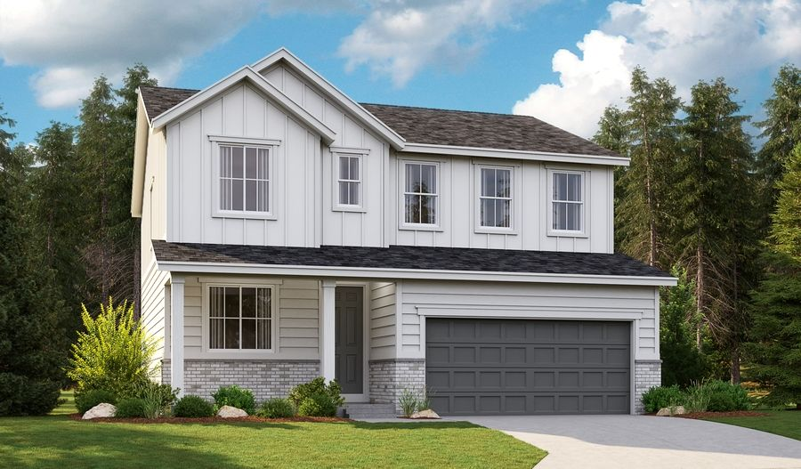 Exterior featured in the Lapis By Richmond American Homes in Seattle-Bellevue, WA