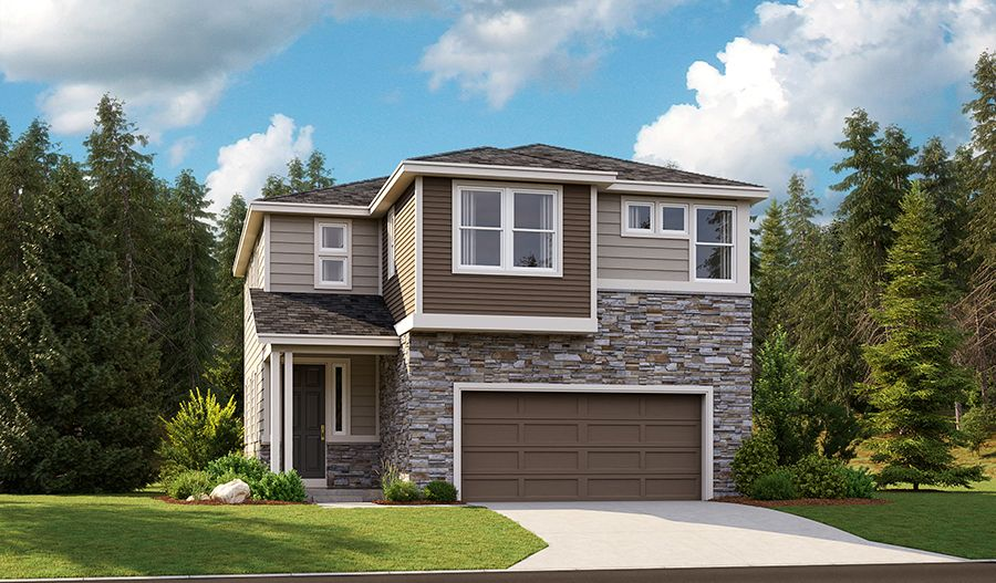 Exterior featured in the Lindsay By Richmond American Homes in Tacoma, WA