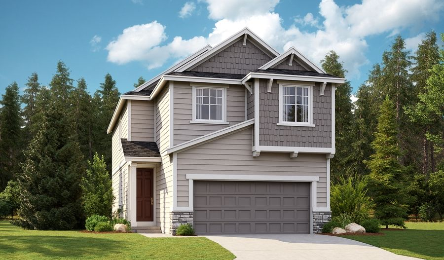 Exterior featured in the Elbert By Richmond American Homes in Bremerton, WA