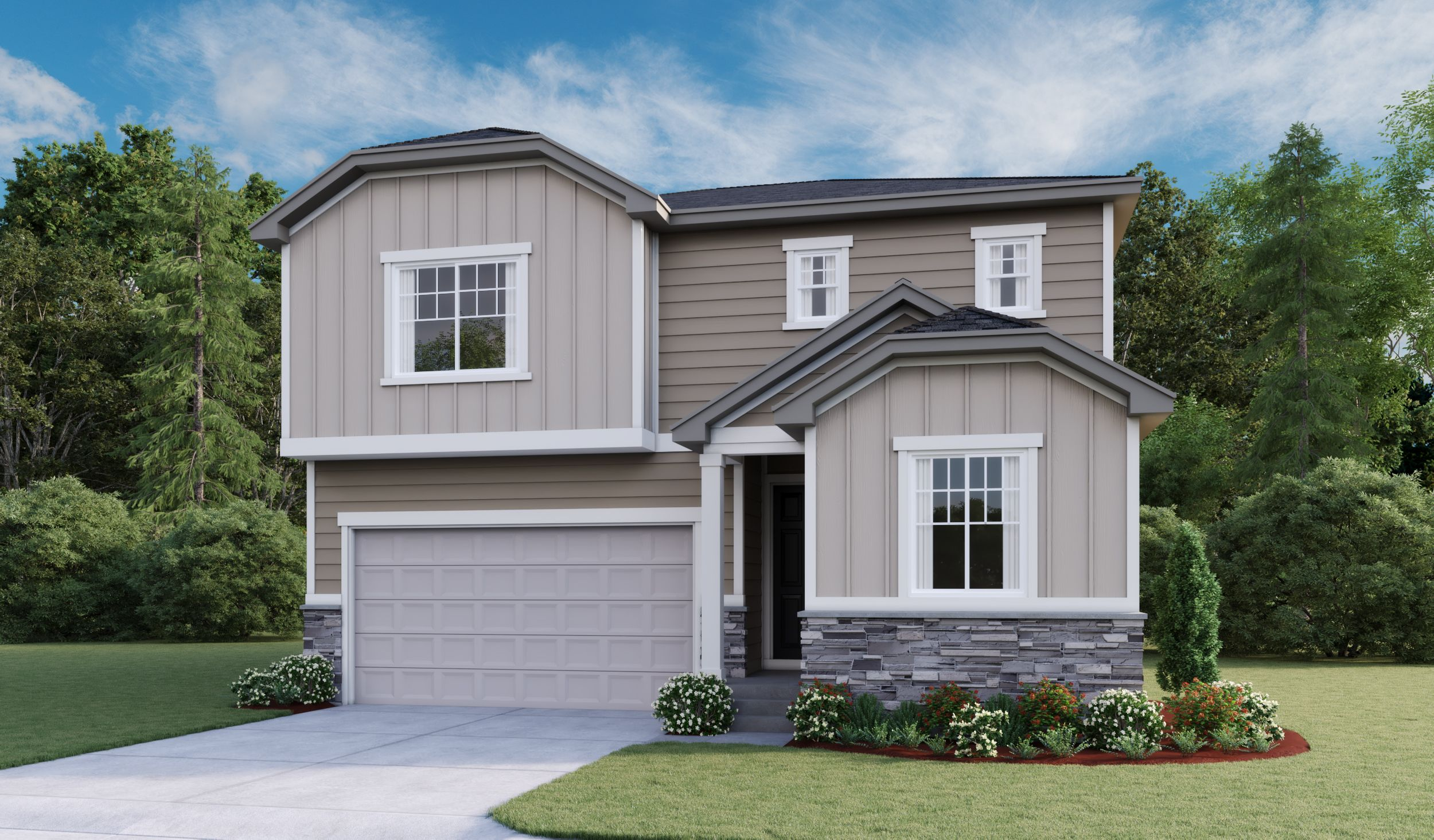 Exterior featured in the Moonstone By Richmond American Homes in Salt Lake City-Ogden, UT