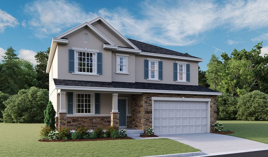 Exterior featured in the Hemingway By Richmond American Homes in Provo-Orem, UT