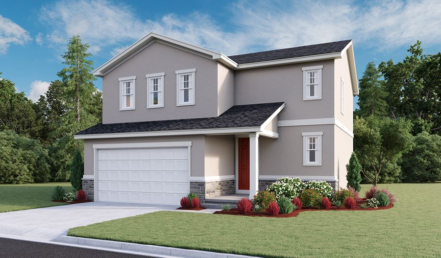 Exterior featured in the Coral By Richmond American Homes in Provo-Orem, UT