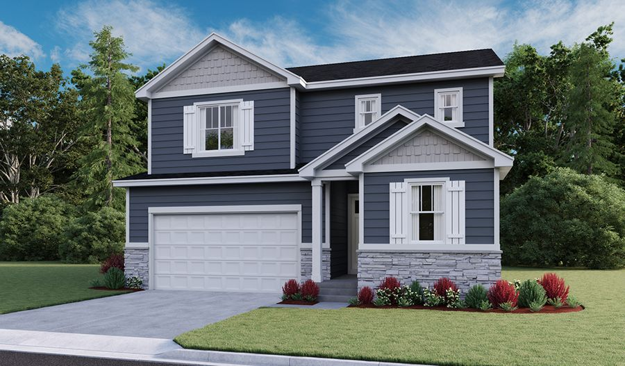 Exterior featured in the Moonstone By Richmond American Homes in Provo-Orem, UT