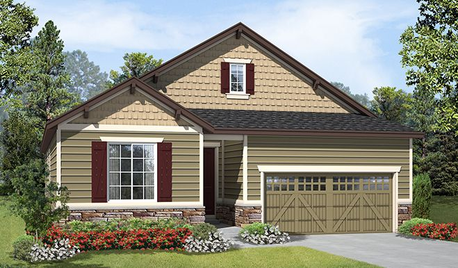 Alcott-D193-Colliers Elevation A:The Alcott - Elevation A
