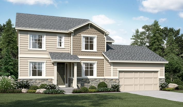 Darcy-D714-OutlookAtCherryCreek Elevation A:The Darcy - Elevation A
