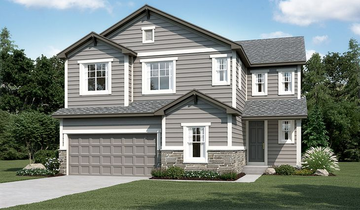 Yorktown-D725-BrightonCrossings Elevation A:The Yorktown - Elevation A