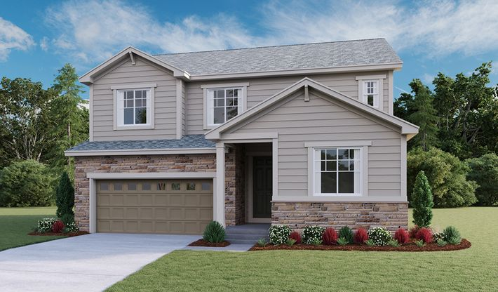 Hopewell-D724-SorrelRanch Elevation A:The Hopewell - Elevation A