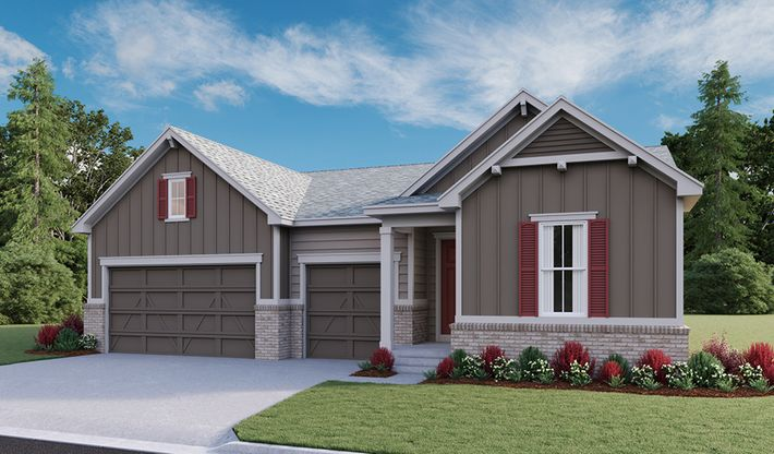 Patterson-D851-Cliffrose-Homestead-Crystal-Valley Elevation B:The Patterson - Elevation B