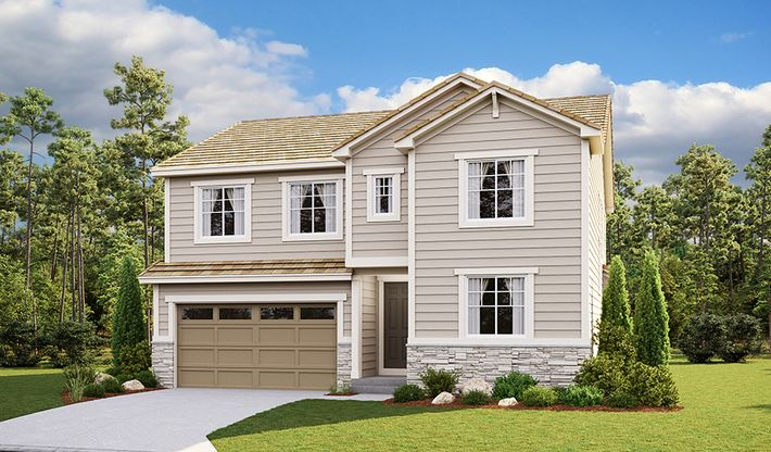 Andrea-D670-RidgelineAtMeridianVillage Elevation A:The Andrea - Elevation A