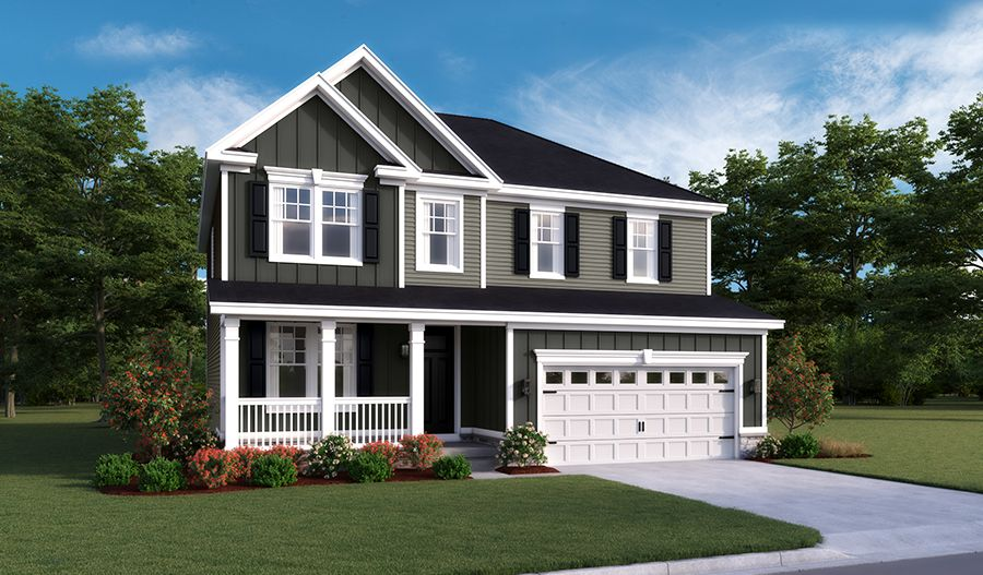 Exterior featured in the Hemingway By Richmond American Homes in Hagerstown, MD