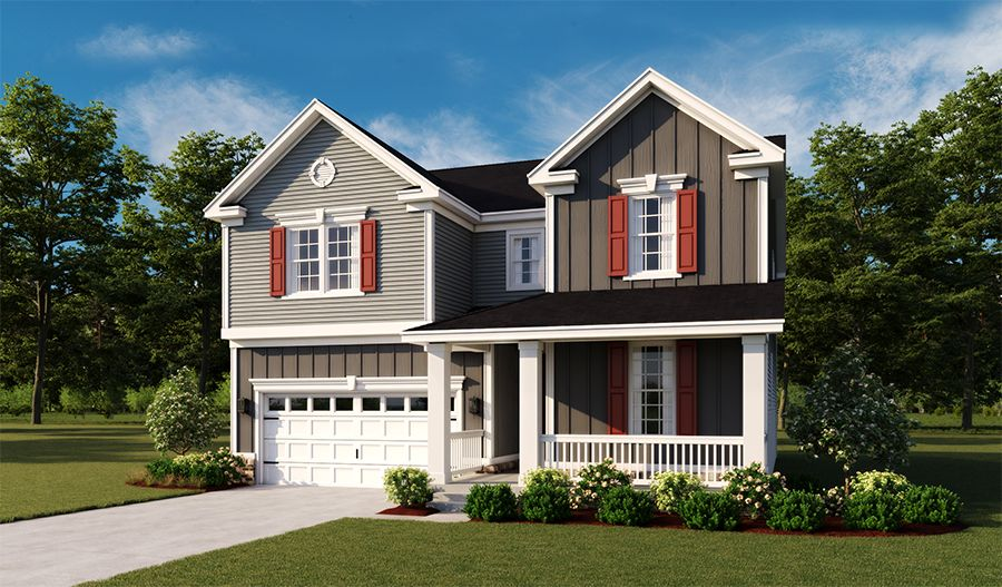 Exterior featured in the Coronado By Richmond American Homes in Hagerstown, MD