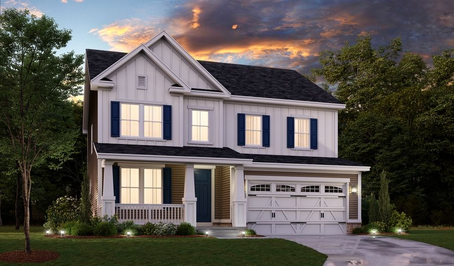 Exterior featured in the Hemingway By Richmond American Homes in Baltimore, MD