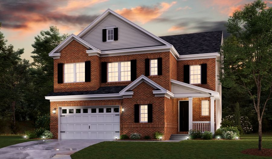 Exterior featured in the Yellowstone By Richmond American Homes in Baltimore, MD