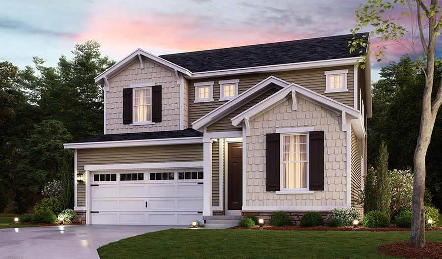 Exterior featured in the Foster By Richmond American Homes in Baltimore, MD