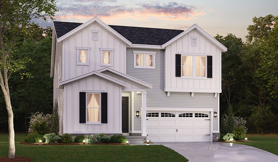 Exterior featured in the Bradford By Richmond American Homes in Baltimore, MD