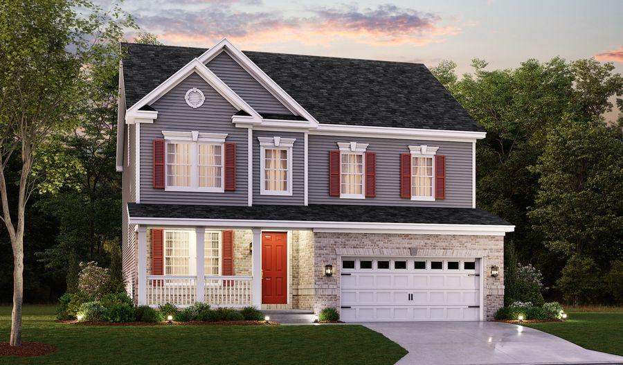 Exterior featured in the Hemingway II By Richmond American Homes in Baltimore, MD