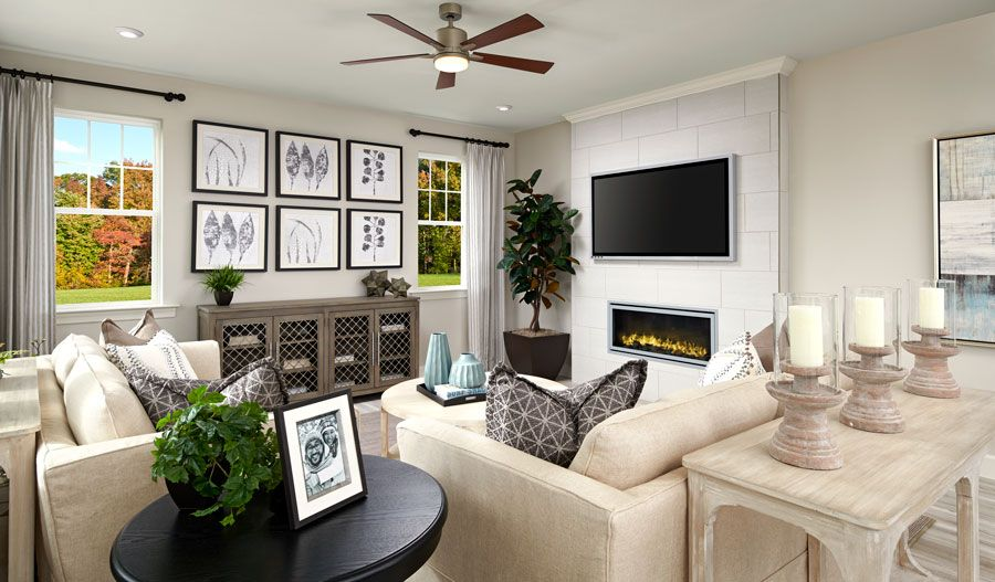 Living Area featured in the Fleming By Richmond American Homes in Baltimore, MD